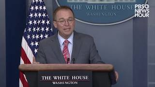 WATCH: Trump held up Ukraine aid in part over election probe, Mulvaney says