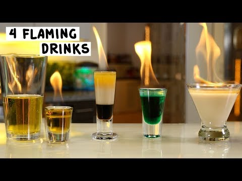 Four Flaming Drinks