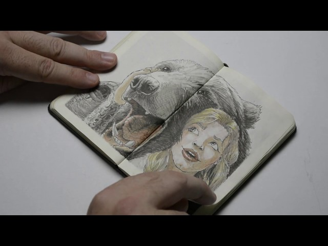 Bear Empress  – Mini Moleskine sketchbook 001