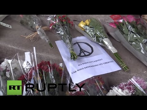 UK: London Mourns Paris Attacks As Security Stepped Up At French Embassy