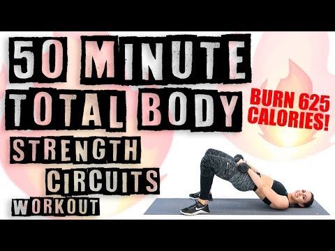 50 Minute Total Body Strength Circuit Workout ��Burn 625 Calories! ��