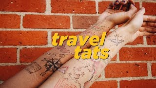 GETTING MATCHING TRAVEL TATTOOS (ft. Jody Steel) | Collabmas Day 11