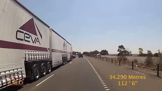 ROAD TRAIN On Busy Australian Freeway in Melbourne | Translunar - Far Side of the Sun