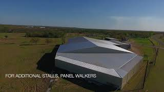 42 Acre Horse Training Facilty, Weatherford, TX - Aerial Tour