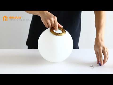 Installing Cattel Simple Globe Glass Shade Indoor Wall Sconce #0010698-1