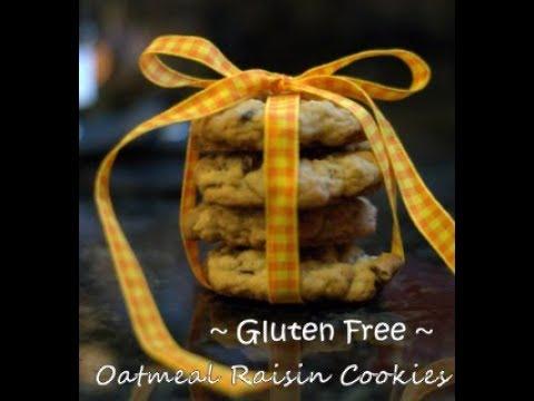 How To Make Gluten Free Oatmeal Raisin Cookies | Gluten Free Dessert🍪