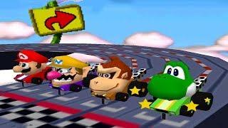 Mario Party 2 - 4 Player Minigames - Mario Wario DK Yoshi All Funny Minigames (Master CPU)
