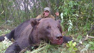 Охота на бурого медведя видео