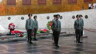 Changing of the Guard. Mamayev Kurgan Memorial, Russia.