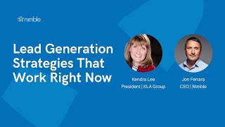 Lead Generation Strategies that Work Right Now