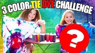 3 Color Tie Dye Shirt CHALLENGE!!! Madison vs Sierra Haschak