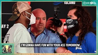 This is what Jorge Masvidal said to Kamaru Usman when they faced off
