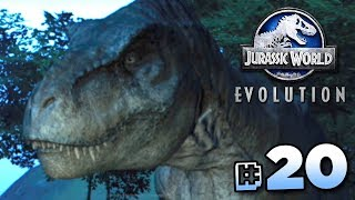 JURASSIC WORLD EVOLUTION! Creating a T.rex on the most confining is...
