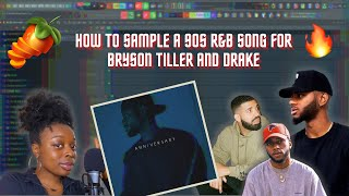 How to Sample a 90s R&B Song For Bryson Tiller & Drake | Trap Soul Type Beat | FL Studio Tutorial