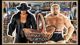 Undertaker Returns To Face Rusev In A Basket Match!   WWE Mattel Wrestling Figure Fun   WDW #18