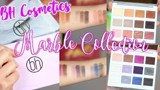 Repeat youtube video BH COSMETICS MARBLE COLLECTION | Warm + Cool Stone | Brush Swatches