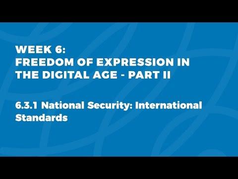 MOOC FOE1x   6.3.1 National Security: International Standards
