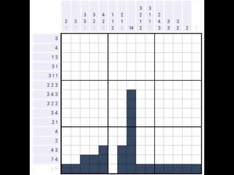 This is an image of Nonograms Printable within one piece puzzle