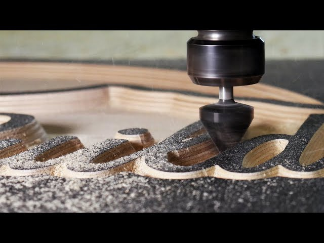 Carving a wood sign with a CNC!