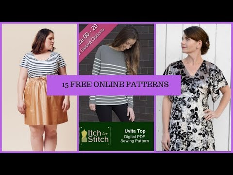[227]Sewing|🚫Pattern No Buy🚫 and 15 FREE Online Patterns