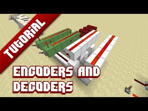 Minecraft Tutorial: Encoders and Decoders - Making redstone compact