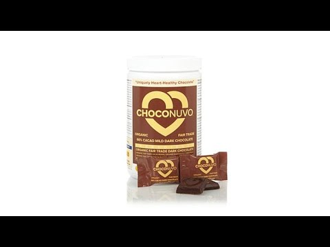 ChocoNuvo 66% Cacao Dark Chocolate  30 Servings