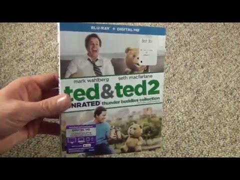 Ted And Ted 2 Thunder Buddies Edition Unrated Blu-Ray Unboxing