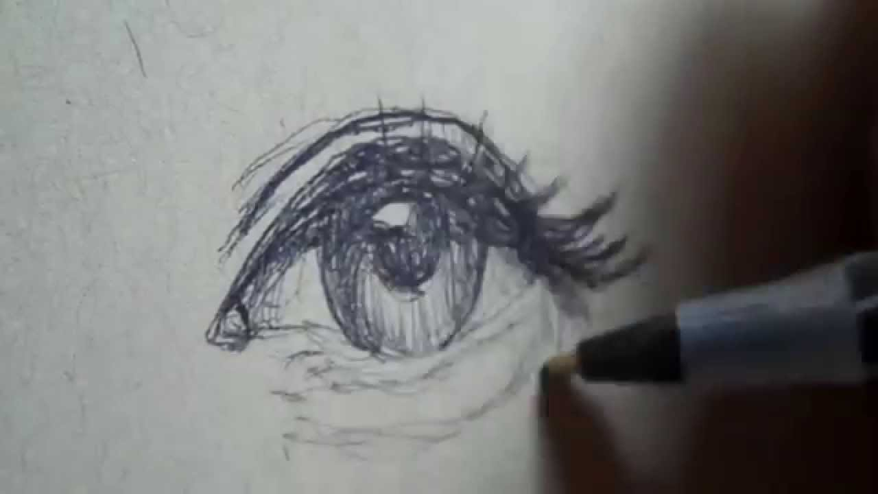 Drawing a quick simple eye with ballpoint pen youtube ccuart Image collections
