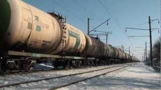 Отправление соединённого грузового поезда(Отправление соединённого грузового поезда №2304/1342 под электровозами ВЛ80Т-1344 (в голове) и ВЛ80Т-808 (в середине,..., 2012-08-21T19:59:42.000Z)