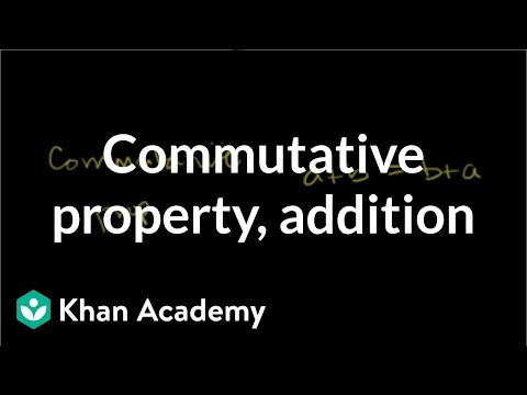 Commutative property for addition | Arithmetic properties | Pre-Algebra | Khan Academy