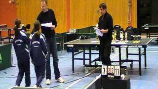 Siegerehrung Josephin TSV Trittau LMS 2011 Doppel