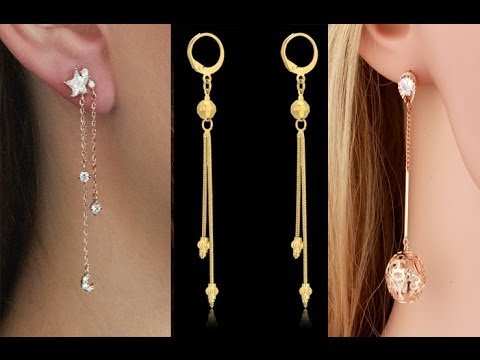 long gold chain earring for women latest gold jewellery