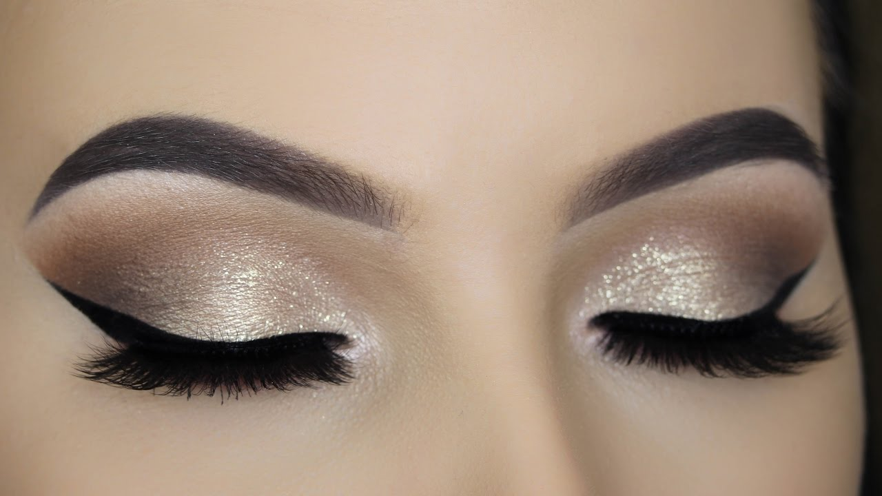 Soft Gold Glitter Eye Makeup Tutorial Youtube
