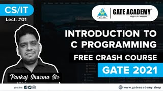 Introduction to C Programming By PS Sir   Free Crash Course   CS/IT   GATE 2021
