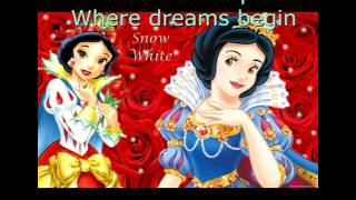Disney Princesses Where Dreams Begin lyric