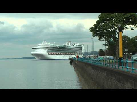 Caribbean Princess leaving greenock again. 13 june 2012