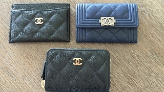 Chanel classic and boy coin purse comparison!!!!