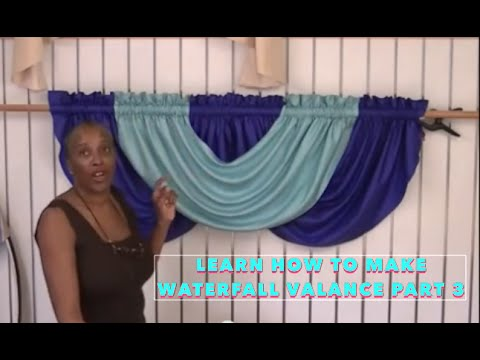 Learn how to make Waterfall Valance part 1 | zavjese ...