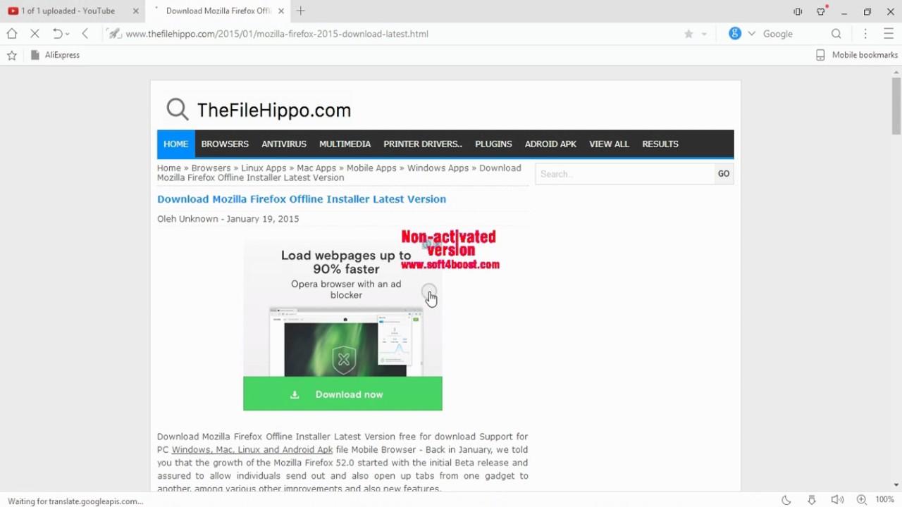 firefox 52 offline installer download