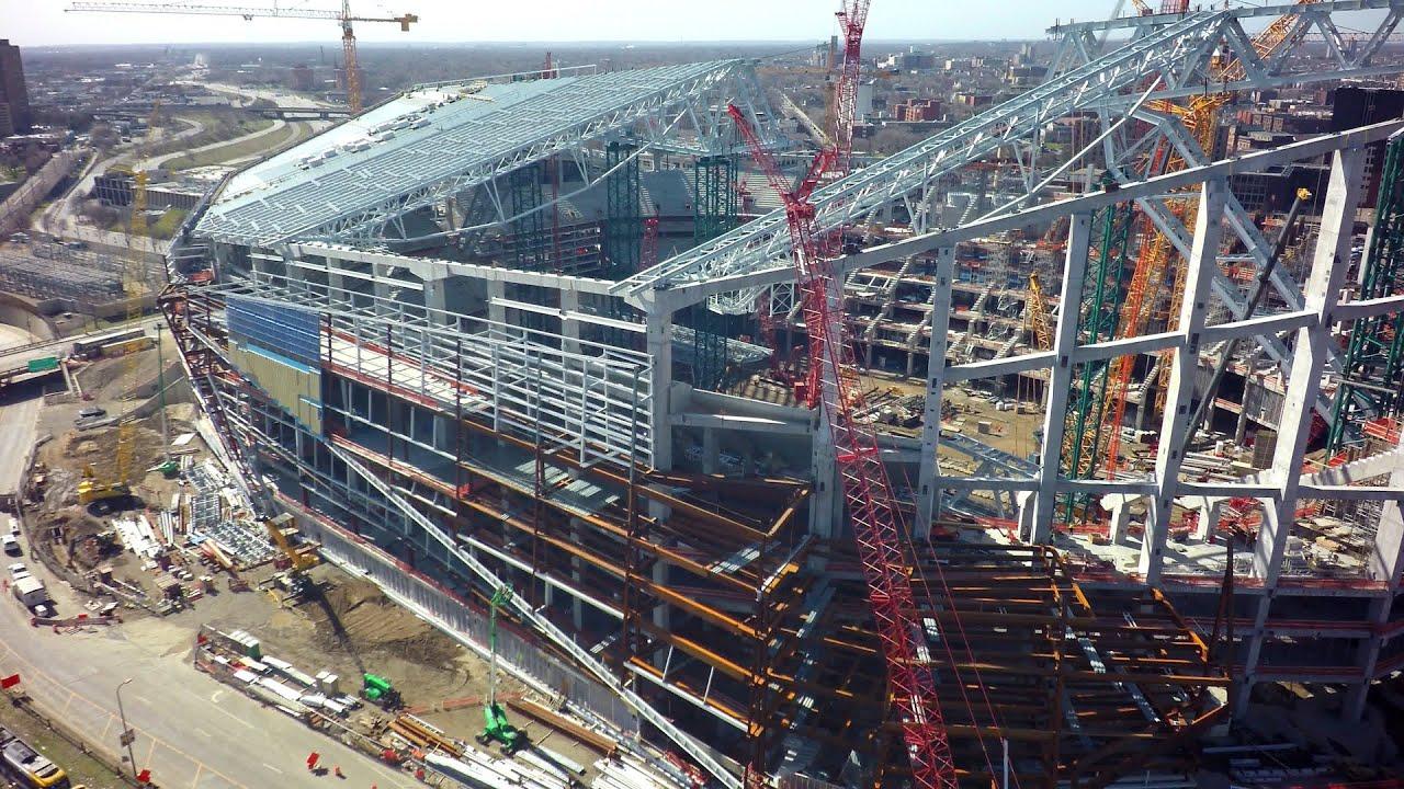 Minnesota Vikings New Stadium Progress Youtube
