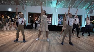 Siblings surprise wedding dance show #2