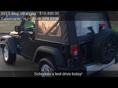 2013 Jeep Wrangler Sport 4x4 2dr SUV for sale in Tabernacle,
