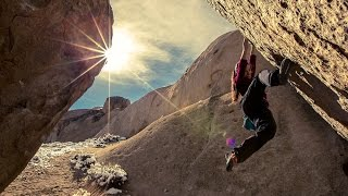 Nina Williams Bouldering in Bishop (Five Ten)