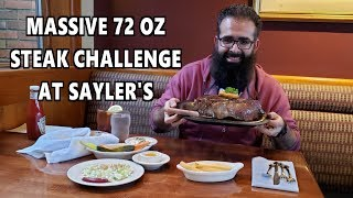 Massive 72 oz Steak Challenge at Sayler's in Portland, OR *Bucket List Restaurant* | FreakEating