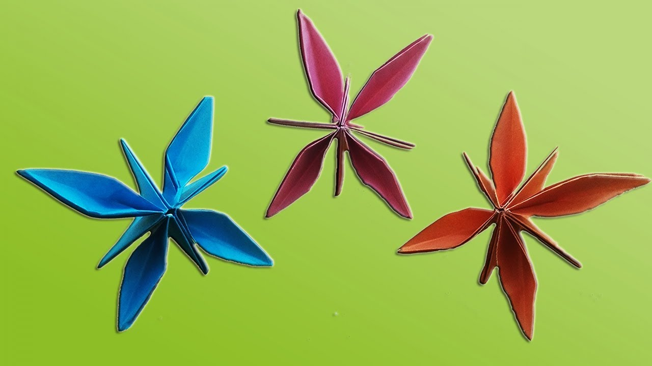 How To Make A Easy Origami Flower With Color Paper Diy Paper