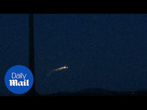 Mysterious erratically moving UFO spotted in Somerset - Daily Mail