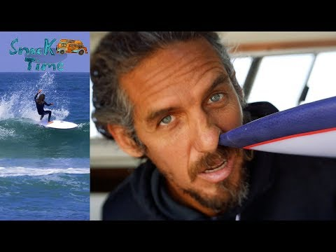Rob Machado surfs an experimental Extended Go Fish, SnackTime Ep2