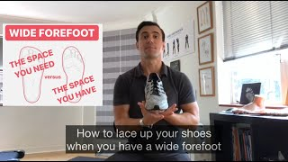 WIDE FOREFOOT (Lacing method)