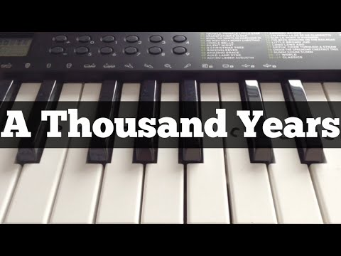 A Thousand Years  Christina Perri  Easy Keyboard Tutorial With Notes Right Hand