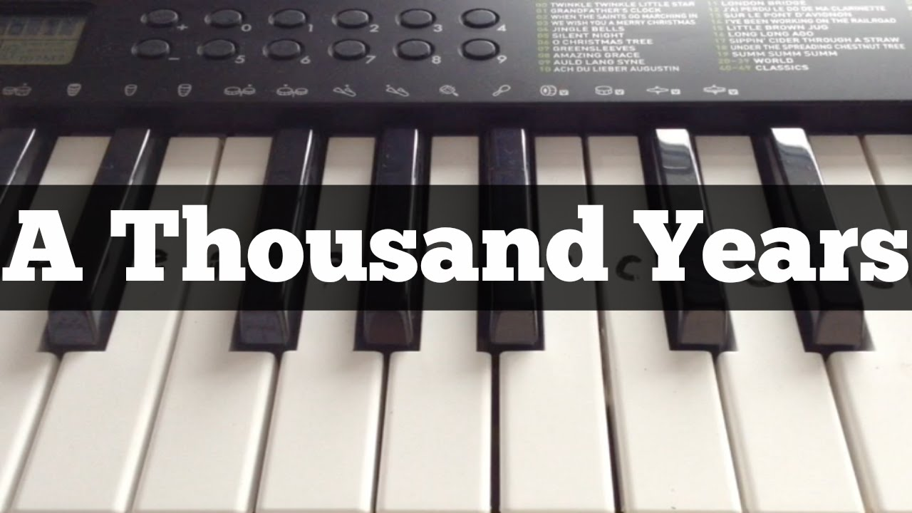 A Thousand Years - Christina Perri | Easy Keyboard Tutorial With ...